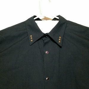 BC Ethic Shirts - BC Ethic L/S Pearl Snap Button Shirt Studded Roses